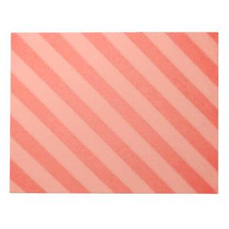 Vintage Candy Stripe Tangerine Orange Sherbet Notepad