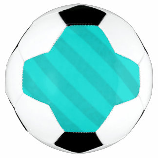 Vintage Candy Stripe Teal Peacock Aqua Soccer Ball