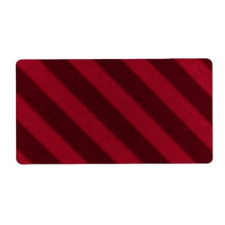 Vintage Candy Stripe Wallpaper Cranberry Red Shipping Label
