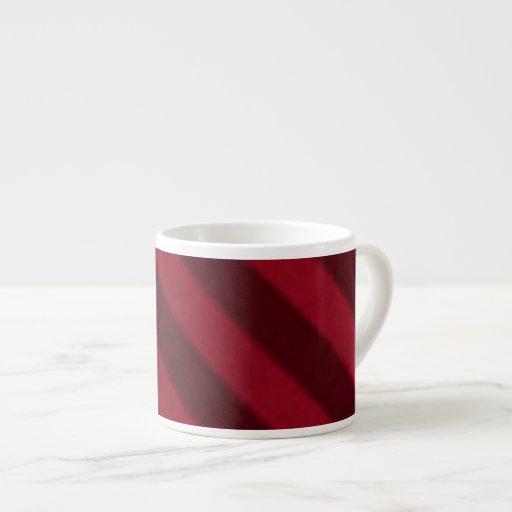 Vintage Candy Stripe Wallpaper Cranberry Red Espresso Mug