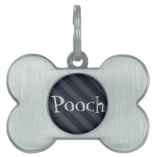 Vintage Candy Stripe Wallpaper Gray Black Grunge Pet ID Tag