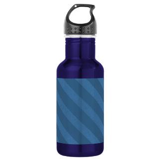 Vintage Candy Stripe Wallpaper Powder Blue Grunge Water Bottle