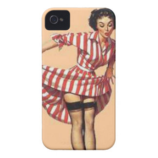 Vintage Candy Striper Pin Up Girl MousePad Case-Mate iPhone 4 Case