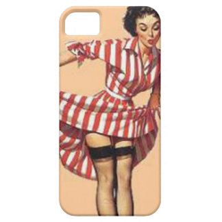 Vintage Candy Striper Pin Up Girl MousePad iPhone SE/5/5s Case
