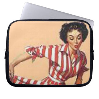 Vintage Candy Striper Pin Up Girl MousePad Laptop Sleeve