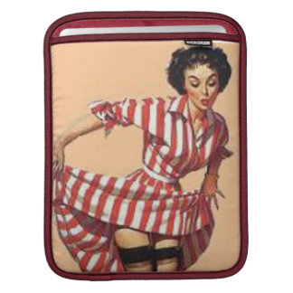 Vintage Candy Striper Pin Up Girl Sleeve For iPads
