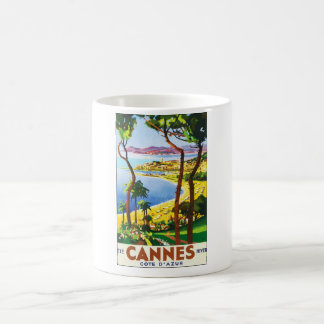 Vintage Cannes Cote D'Azur French Travel Poster Coffee Mug