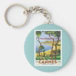 Vintage Cannes Cote d'Azur Llaveros
