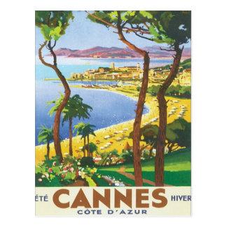 Vintage Cannes Cote d'Azur Tarjetas Postales