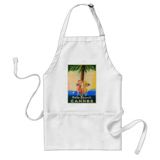 Vintage Cannes French Travel Adult Apron
