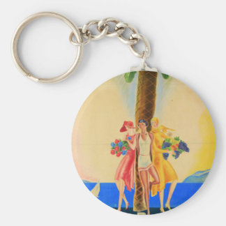 Vintage Cannes French Travel Keychain