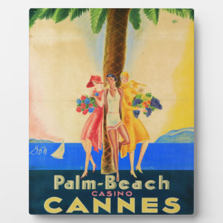 Vintage Cannes French Travel Plaque