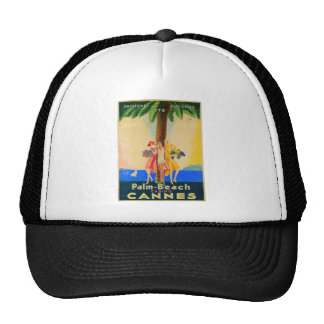 Vintage Cannes French Travel Trucker Hat