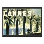 Vintage Cannes Travel Advertisement Post Card