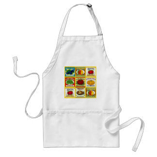 Vintage Canning Canned Can Labels Apron Kitchen