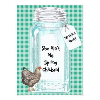 Vintage Canning Jar Design Card