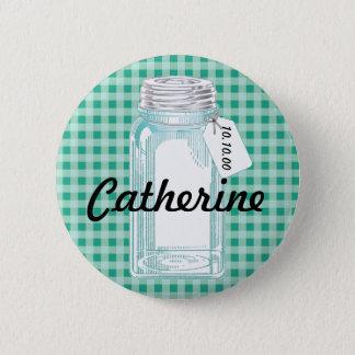 Vintage Canning Jar Design Pinback Button