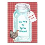 Vintage Canning Jar Red Gingham Design Card
