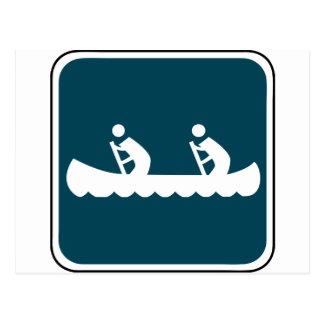 Vintage Canoe Sign Postcard