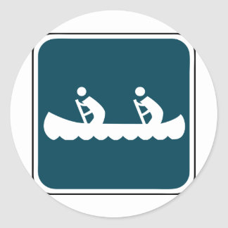 Vintage Canoe Sign Sticker