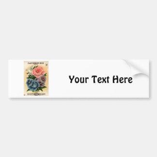 Vintage Canterbury Bells Flower Seed Packet Car Bumper Sticker