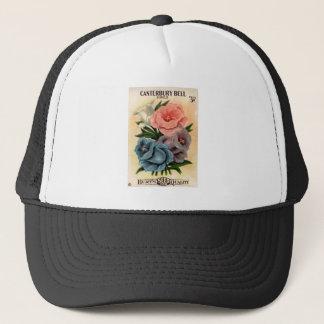 Vintage Canterbury Bells Flower Seed Packet Trucker Hat
