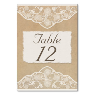 ... Table Numbers Table Cards, Vintage Ivory Lace Table Numbers Table Card Vintage Table Numbers