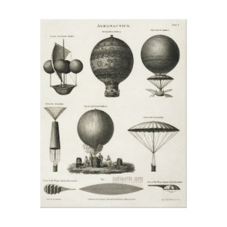 Vintage Canvas Print Hot Air Balloon Aeronautics