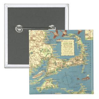 Vintage Cape Cod Map 1940 Button