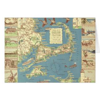 Vintage Cape Cod Map (1940) Card