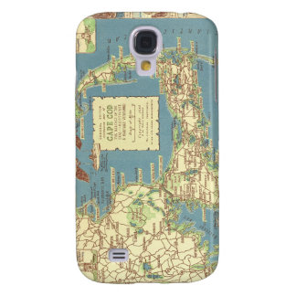 Vintage Cape Cod Map 1940 Samsung Galaxy S4 Covers