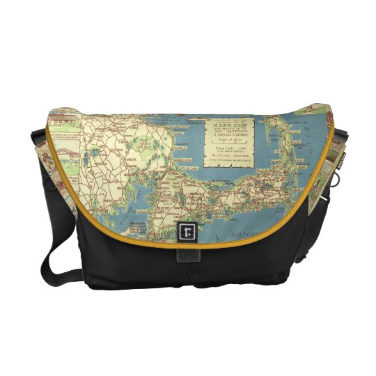 Vintage Cape Cod Map (1940) Courier Bag