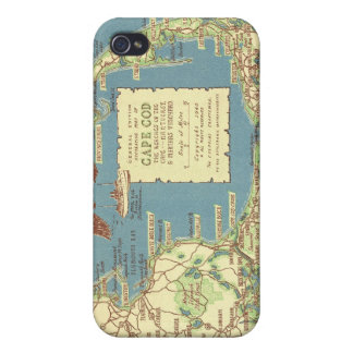 Vintage Cape Cod Map 1940 iPhone 4/4S Covers