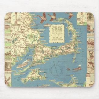 Vintage Cape Cod Map (1940) Mouse Pad
