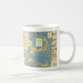 Vintage Cape Cod Map (1940) Coffee Mugs