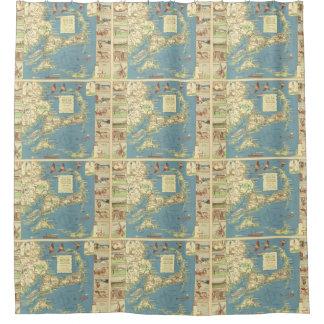 Vintage Cape Cod Map (1940) Shower Curtain