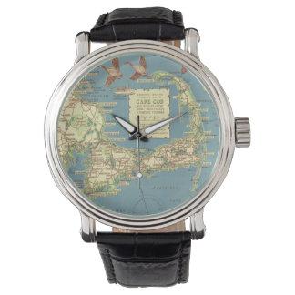 Vintage Cape Cod Map (1940) Wrist Watch
