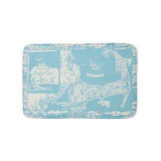 Vintage Cape Cod Map Bathroom Mat