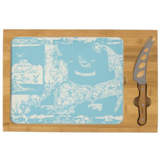 Vintage Cape Cod Map Cheese Platter