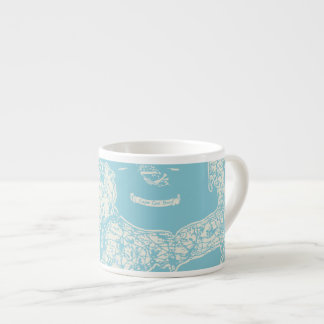 Vintage Cape Cod Map Espresso Cup