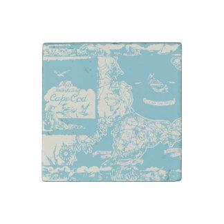 Vintage Cape Cod Map Stone Magnet