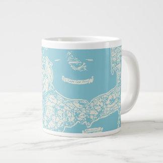 Vintage Cape Cod Map Large Coffee Mug