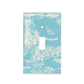 Vintage Cape Cod Map Light Switch Cover