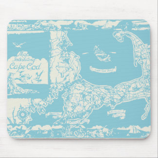 Vintage Cape Cod Map Mouse Pad