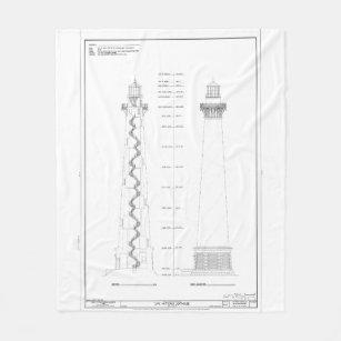 cape hatteras lighthouse diagram gifts on zazzle tohatsu wiring diagram vintage cape hatteras lighthouse blueprint fleece blanket