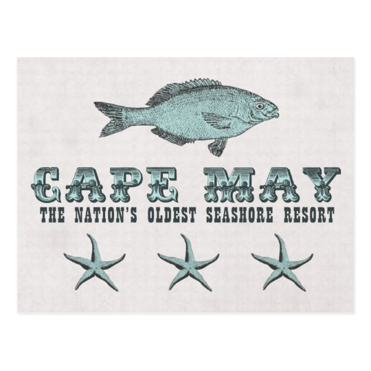 Vintage Cape May NJ Oldest Seashore Resort Beach Postcard