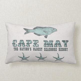 Vintage Cape May Oldest Seashore Resort NJ Pillow