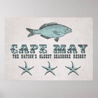 Vintage Cape May Seashore Resort Poster
