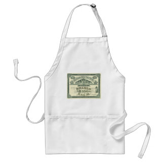 Vintage Capital Stock Certificate Business Finance Adult Apron