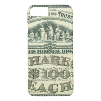 Vintage Capital Stock Certificate Business Finance iPhone 8/7 Case